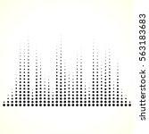 dotted equaliser  equalizer  eq ... | Shutterstock . vector #563183683