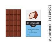 chocolate bar. cacao label...