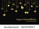 vector greeting card for... | Shutterstock .eps vector #563195017