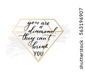 vector hand drawn modern card.... | Shutterstock .eps vector #563196907