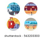 airport icon set | Shutterstock .eps vector #563203303