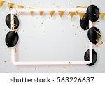 vector realistic balloons in... | Shutterstock .eps vector #563226637