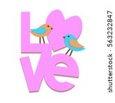 love  design of abstract... | Shutterstock .eps vector #563232847