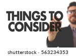 things to consider | Shutterstock . vector #563234353