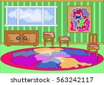 background  green room with a... | Shutterstock .eps vector #563242117