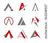 logo letter a sets icons | Shutterstock .eps vector #563248537