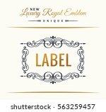 calligraphic luxury line logo.... | Shutterstock .eps vector #563259457