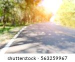 Blur Curve Road In Green...