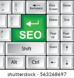 computer keyboard with seo | Shutterstock . vector #563268697