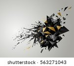 geometric abstract banner with... | Shutterstock .eps vector #563271043