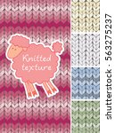 set of different knitted... | Shutterstock .eps vector #563275237