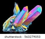 amazing rare quartz rainbow... | Shutterstock . vector #563279053