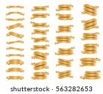 ribbon banners isolated on... | Shutterstock .eps vector #563282653