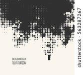 black and white grunge effect.... | Shutterstock .eps vector #563287267