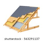 roof of the house in a cut...   Shutterstock . vector #563291137