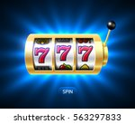 slot machine with luck word ... | Shutterstock .eps vector #563297833