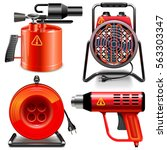vector thermal power tools | Shutterstock .eps vector #563303347