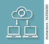 sync data. cloud computing...   Shutterstock .eps vector #563306383