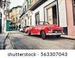 havana  cuba  jan 20  2017  old ... | Shutterstock . vector #563307043