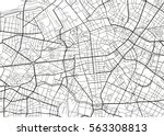 black and white vector city map ... | Shutterstock .eps vector #563308813