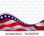 an american flag horizontal... | Shutterstock .eps vector #56330935