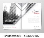 cover design template for... | Shutterstock .eps vector #563309407