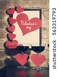 valentine's day card with... | Shutterstock . vector #563319793