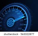 car speedometer. vector techo... | Shutterstock .eps vector #563322877