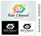 kids channel logo design... | Shutterstock .eps vector #563323327
