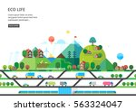 ecological village away from... | Shutterstock .eps vector #563324047