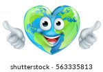 a world earth day thumbs up... | Shutterstock .eps vector #563335813