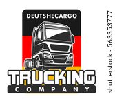 truck car cargo germany ... | Shutterstock .eps vector #563353777
