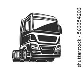 truck car cargo freight logo... | Shutterstock .eps vector #563354203