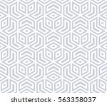 repeating geometric tiles with... | Shutterstock .eps vector #563358037