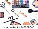 decorative cosmetics | Shutterstock . vector #563358643