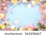 spring flower with lights copy... | Shutterstock . vector #563358667