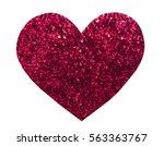 round glitter red sequin in...   Shutterstock . vector #563363767