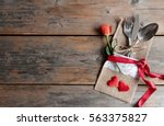romantic meal valentines day... | Shutterstock . vector #563375827