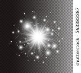 abstract vector light effect... | Shutterstock .eps vector #563383387