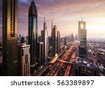 Dubai Skyline In Sunset Time ...