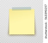 post note paper sticker pin on... | Shutterstock .eps vector #563390257