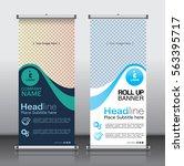 roll up brochure flyer banner... | Shutterstock .eps vector #563395717