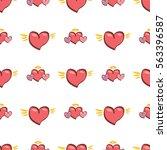 vector seamless heart pattern... | Shutterstock .eps vector #563396587