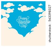 cute romantic card for... | Shutterstock .eps vector #563398327