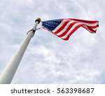 American Flag Waves Proudly...