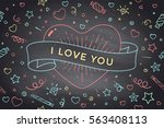 vintage ribbon with message i... | Shutterstock .eps vector #563408113