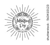 happy valentine's day greetings ...   Shutterstock .eps vector #563410123