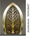 golden gate forging a fabulous...   Shutterstock .eps vector #563418667