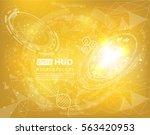 abstract vector design hud... | Shutterstock .eps vector #563420953
