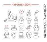 hypertension. symptoms ... | Shutterstock .eps vector #563430037